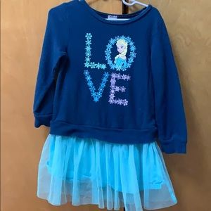 Girls sweatshirt with attached skirt